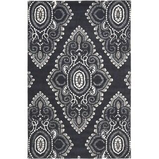 Safavieh Handmade Wyndham Dark Grey/ Ivory Wool Rug (8'9 x 12')