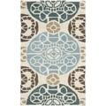 Safavieh Handmade Wyndham Beige/ Blue Wool Rug (2' x 3')