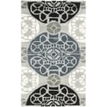 Safavieh Handmade Wyndham Grey/ Black Wool Rug (2' x 3')