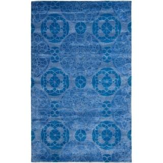 Safavieh Handmade Wyndham Blue Wool Rug (10' x 14')