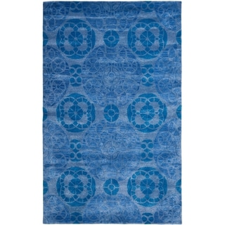 Safavieh Handmade Wyndham Blue Wool Area Rug (8'9 x 12')