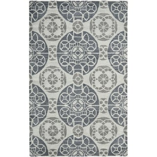 Safavieh Handmade Wyndham Silver Wool Rug (10' x 14')
