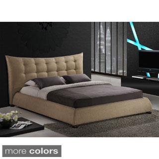 Baxton Studio Marguerite Linen Platform Bed