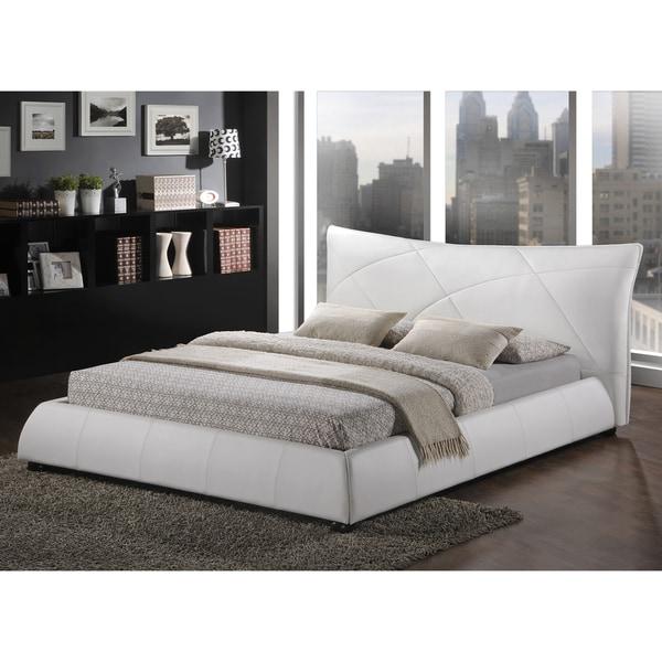 Baxton Studio Corie White Modern Platform Bed