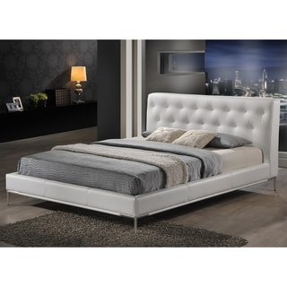 Baxton Studio Panchal White King Platform Bed