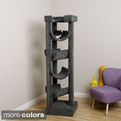 New Cat Condos Premiere Solid Wood 6-foot Skyscraper Cat Tree