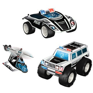 Geomag Wheels Police Squad 68-piece Magnetic Construction Set