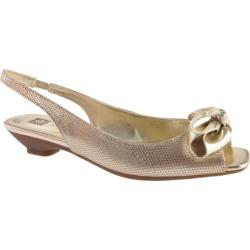 Women's Anne Klein Jest Natural Gold Reptile Synthetic
