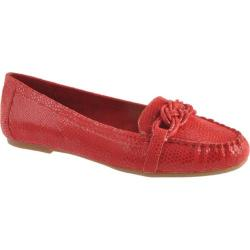 Women's Anne Klein Samanta Medium Red Reptile Synthetic