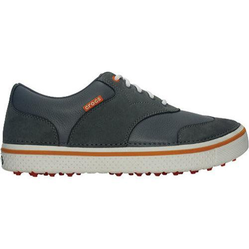 Men's Crocs Preston Golf Charcoal/Pumpkin