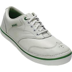 Men's Crocs Preston Golf White/Parrot Green