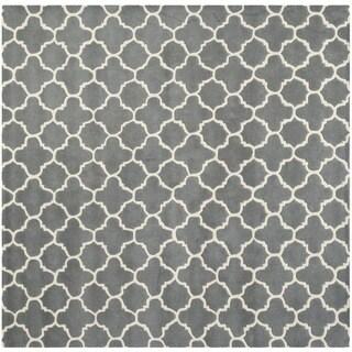 Safavieh Handmade Moroccan Chatham Dark Grey Wool Rug (8'9 Square)