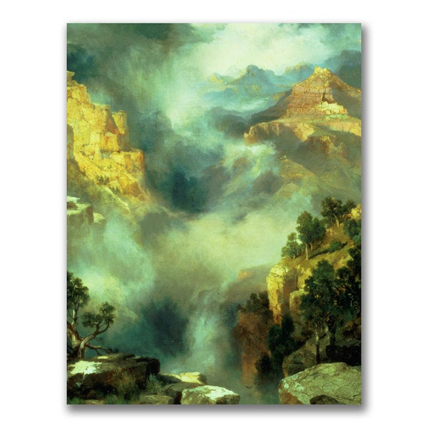 Thomas Moran 'Mist in the Canyon' Canvas Art