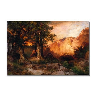 Thomas Moran 'Western Sunset' Canvas Art