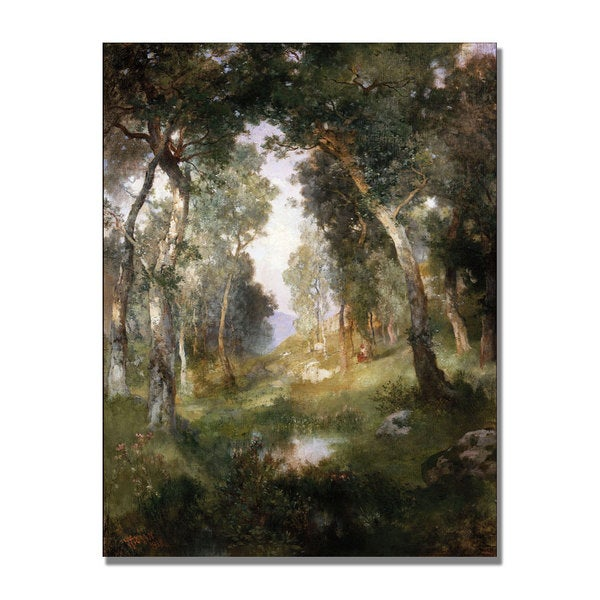 Thomas Moran 'Forest Glade Santa Barbara' Canvas Art