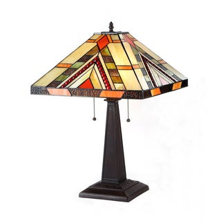 Tiffany Style Mission Design 2-light Classic Table Lamp