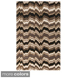 Candice Olson Hand-tufted Modern Classics Chevron Design Area Rug (5' x 8')