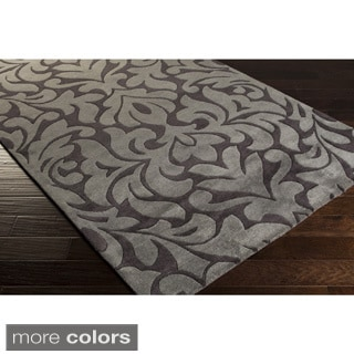 Candice Olson Hand-tufted Modern Classics Damask Print Area Rug (5' x 8')