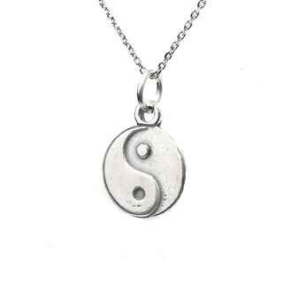 Sterling Silver Yin Yang Balance Necklace (Thailand)