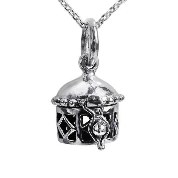 Handmade Geometric Prayer Box Locket Sterling Silver Necklace (Thailand) 11253454