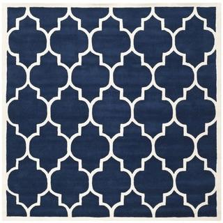 Safavieh Handmade Moroccan Chatham Dark Blue Wool Rug (8'9 Square)