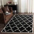 Handmade Moroccan Black Wool Indoor Rug (8' x 10')