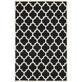 Handmade Moroccan Tufted Black Wool Rug (6' x 9')