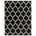 Handmade Moroccan Black Contemporary Wool Rug (5' x 8')