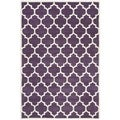 Handmade Moroccan Purple Pure Wool Rug (6' x 9')