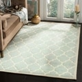 Safavieh Handmade Moroccan Chatham Canvas-backed Gray Wool Rug (4' x 6')
