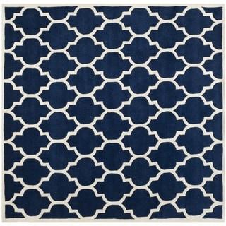 Safavieh Handmade Moroccan Dark Blue Wool Area Rug (8'9 Square)