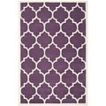 Handmade Moroccan Purple Wool Rug with Dense Pile (8' x 10')
