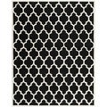 Handmade Moroccan Rectangular Black Wool Rug (8' x 10')