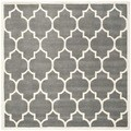 Safavieh Handmade Moroccan Dark Grey Indoor Wool Rug (8'9 Square)