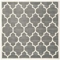 Safavieh Modern Handmade Moroccan Dark Grey Wool Rug (7' Square)