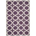 Handmade Moroccan Purple Wool Rug with Cotton Canvas Backing (6' x 9')