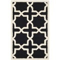 Small Safavieh Handmade Moroccan Cambridge Black Wool Rug (3' x 5')