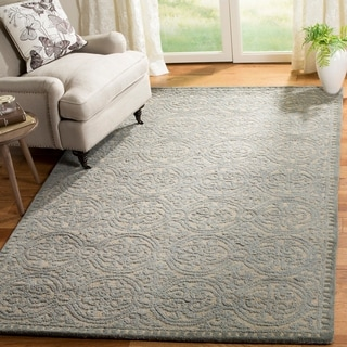 Safavieh Handmade Moroccan Cambridge Dusty Blue/ Cement Wool Rug (6' x 9')