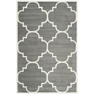 Safavieh Handmade Moroccan Chatham Contemporary Dark Gray Wool Rug (4' x 6')