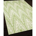 Indoor/Outdoor Green Ikat Area Rug (1'8 x 3'7)