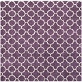 Handmade Moroccan Purple Contemporary Wool Rug (7' Square)
