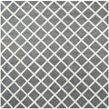 Safavieh Handmade Moroccan Chatham Dark Gray Wool Area Rug (7' Square)