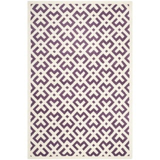 Safavieh Handmade Moroccan Rectangular Purple Wool Rug (6' x 9')