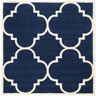 Safavieh Handmade Moroccan Dark Blue Contemporary Wool Rug (8'9 Square)