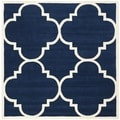 Handmade Moroccan Dark Blue Contemporary Wool Rug (8'9 Square)
