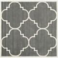 Safavieh Handmade Moroccan Dark Grey Geometric Wool Rug (7' Square)