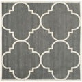 Safavieh Handmade Moroccan Dark Grey Wool Rug with Cotton Canvas Backing (8'9 Square)