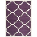 Contemporary Handmade Moroccan Purple Wool Rug (5' x 8')