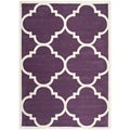 Handmade Moroccan Purple Wool Indoor Rug (6' x 9')
