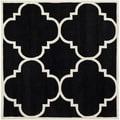 Safavieh Handmade Moroccan Chatham Black Wool Rug (7' Square)